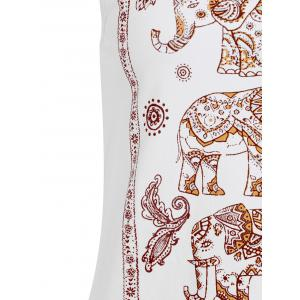 Elephant Print Scoop Neck Tank Top -