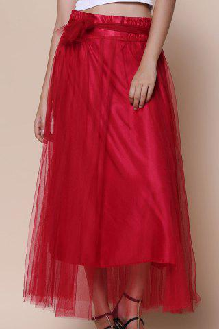 Cheap Maxi Tulle Skirt WINE RED ONE SIZE(FIT SIZE XS TO M)