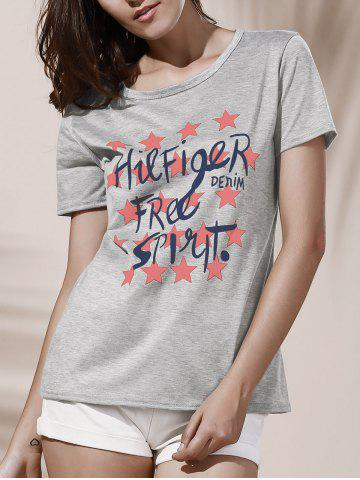Buy Star Graphic Print T-Shirt