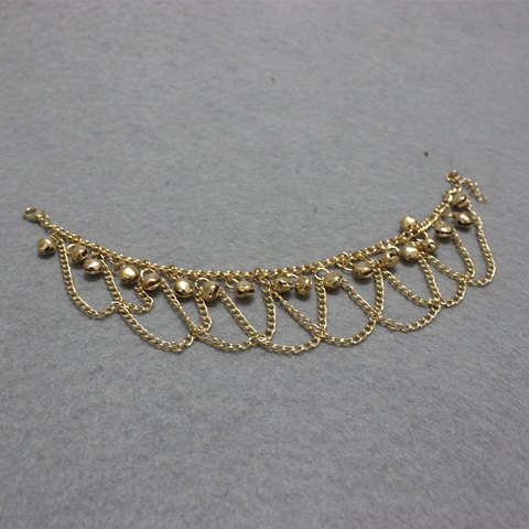 Store Stylish Gold Plated Small Bell Traditional Anklets - GOLDEN  Mobile