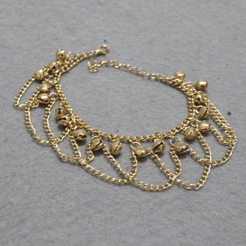 New Stylish Gold Plated Small Bell Traditional Anklets - GOLDEN  Mobile