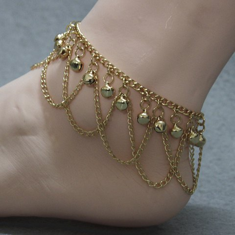 Affordable Stylish Gold Plated Small Bell Traditional Anklets - GOLDEN  Mobile