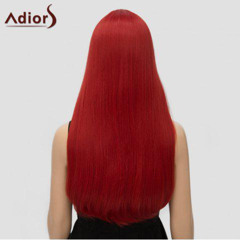 Fancy Fashion Long Straight Tail Adduction Middle Part Synthetic Universal Adiors Cosplay Wig For Women - RED  Mobile
