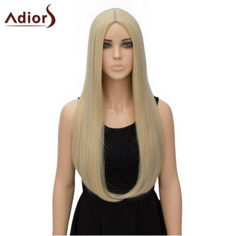 Fancy Fashion Long Straight Tail Adduction Middle Part Synthetic Universal Adiors Cosplay Wig For Women - LIGHT GOLD  Mobile