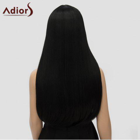 Outfit Fashion Long Straight Tail Adduction Middle Part Synthetic Universal Adiors Cosplay Wig For Women - BLACK  Mobile