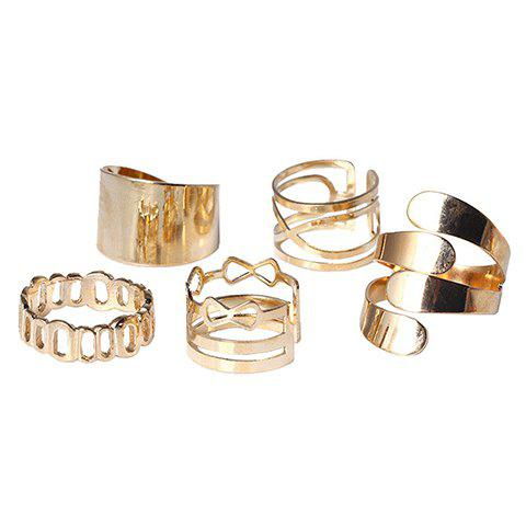 Shops A Suit of Vintage Hollow Out Infinite Rings GOLDEN ONE-SIZE
