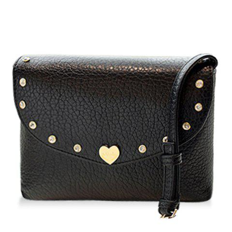Unique Fashion Solid Color and Metal Design Crossbody Bag For Women