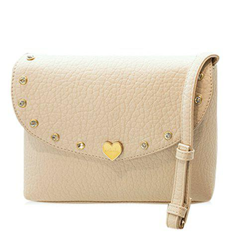Discount Fashion Solid Color and Metal Design Crossbody Bag For Women
