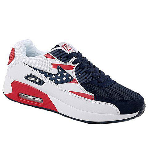 Fashion Fashionable Star Pattern and Splicing Design Athletic Shoes For Men