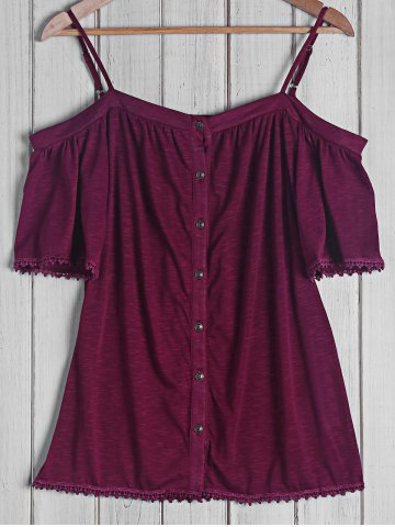 Shop Sexy Strappy Short Sleeve Button Top For Women
