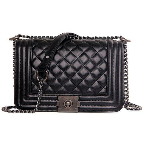 New Stylish Black Colour and Argyle Pattern Design Crossbody Bag For Women