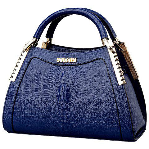 Outfits Fashion Crocodile Print and Metal Design Tote Bag For Women