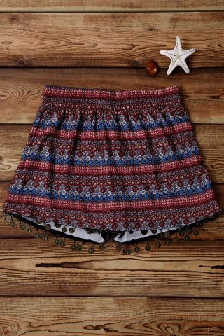 Shop Stylish Wide Leg Ethnic Print Women's Shorts
