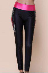 Active Printed Color Spliced Stretchy Skinny Women's Pants