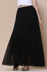 Maxi Tulle Skirt - BLACK