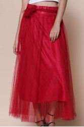 Stylish High-Waisted Solid Color Voile Women's Maxi Skirt