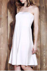 Sexy Strapless Sleeveless Solid Color Women's Beachwear -