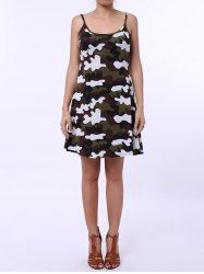 Stylish Spaghetti Strap Camouflage Pattern Sundress For Women - CAMOUFLAGE