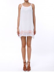 Casual Backless Mini Slip Summer Dress - WHITE