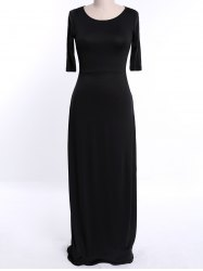 Full Length Modest Formal Dress - BLACK