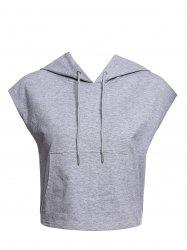 Women's Active Hooded Sleeveless Candy Color Hoodie - OFF-WHITE