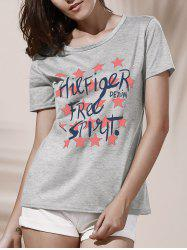 Star Graphic Print T-Shirt -