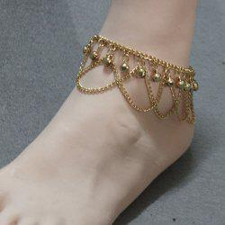 Stylish Gold Plated Small Bell Traditional Anklets