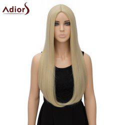 Fashion Long Straight Tail Adduction Middle Part Synthetic Universal Adiors Cosplay Wig For Women - LIGHT GOLD