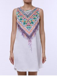Ethnic Scoop Neck Sleeveless Printed Women's Dress