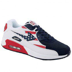 Fashionable Star Pattern and Splicing Design Athletic Shoes For Men -