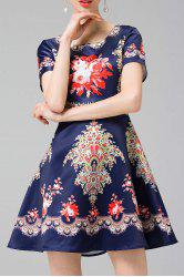 Ethnic Printed A Line Dress -