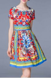 African Style A Line Dress -