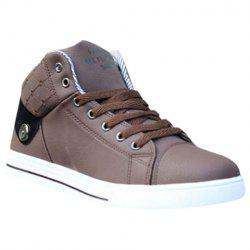 Trendy Color Matching and Lace-Up Design Casual Shoes For Men -