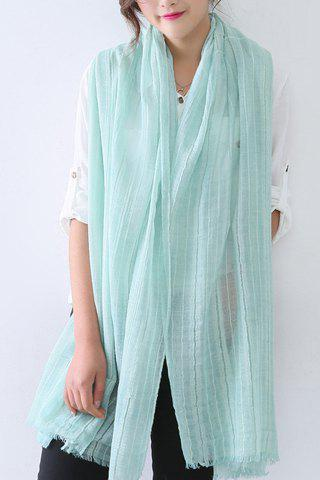 Online Chic Solid Color Fringed Edge Voile Scarf For Women