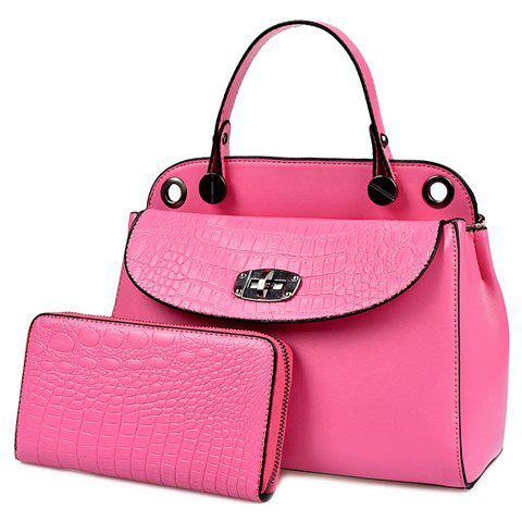 Online Elegant Solid Colour and Embossing Design Tote Bag For Women