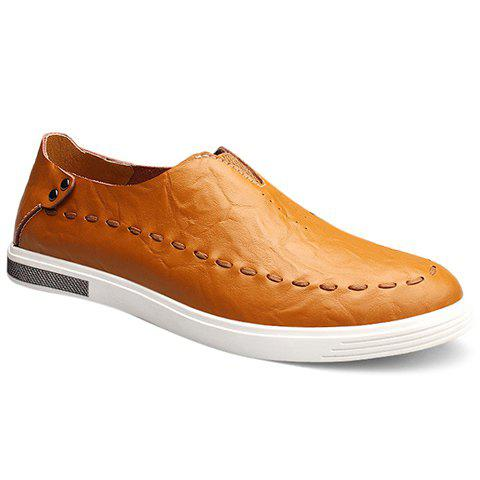 Buy Simple Elastic and PU Leather Design Casual Shoes Fo Men