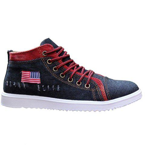 Latest Stylish Denim and Lace-Up Design Casual Shoes For Men