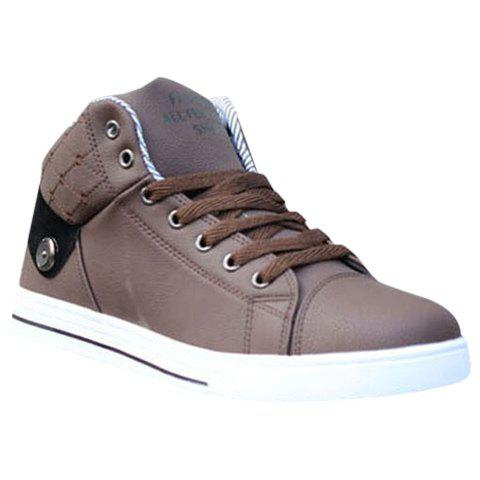 Online Trendy Color Matching and Lace-Up Design Casual Shoes For Men