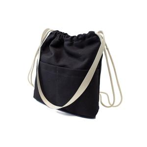 Simple Solid Color and Canvas Design Satchel For Women - BLACK