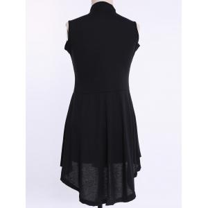Stylish Women's Pure Color Asymmetical Round Neck Sleeveless Plus Size Dress -