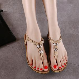 Leisure Metallic and Elastic Design Sandals For Women - APRICOT 38