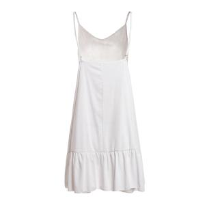 Cute Spaghetti Strap White Open Back Summer Dress For Women - WHITE S