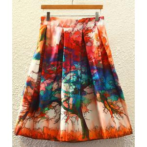 Stylish High Waist Printed Women's A-Line Skirt - JACINTH ONE SIZE(FIT SIZE XS TO M)