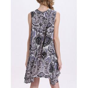 Chic Women's Keyhole Neck Sleeveless Print Dress -