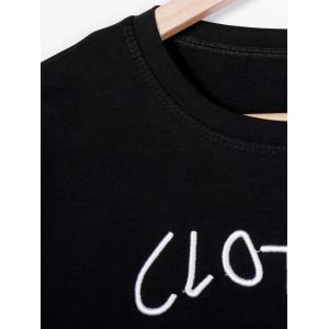 Casual Letter Print Round Neck Short Sleeve Women's T-Shirt -