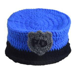 Set of Fashion Policeman Style Knitting Props Clothes Hat For Baby's Photography -