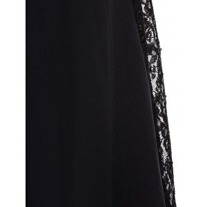 Elegant Black One Sleeve Cut Out Bodycon Maxi Dress For Women -