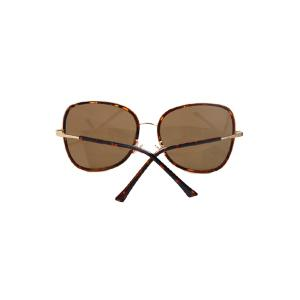 Chic Alloy Match Big Frame Flecky Sunglasses For Women - LIGHT BROWN