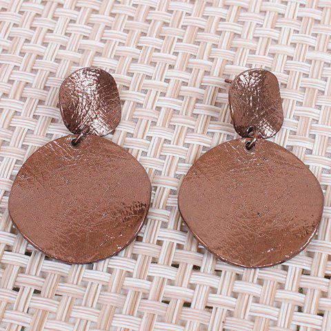 Outfit Pair of Statement Round Alloy Stud Earrings COFFEE