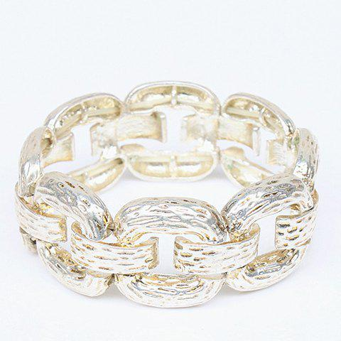 Outfit Alloy Thick Chain Bracelet GOLDEN
